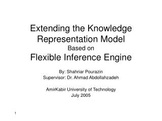 Extending the Knowledge Representation Model  Based on  Flexible Inference Engine