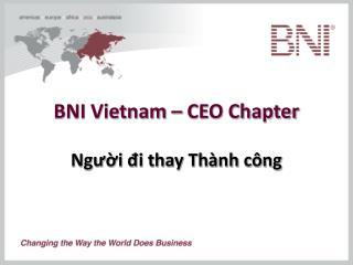 BNI Vietnam – CEO Chapter