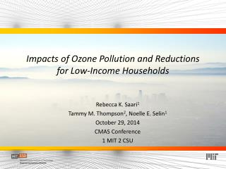 Impacts  of  Ozone Pollution and Reductions  for  Low-Income  Households