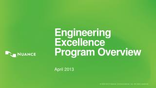 Engineering Excellence Program Overview