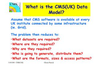 What is the CMS(UK) Data Model?
