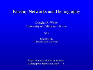 Kinship Networks and Demography