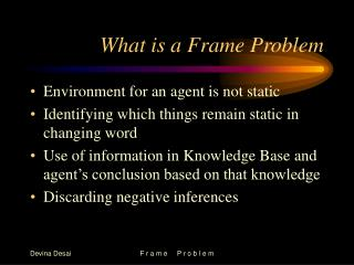 What is a Frame Problem