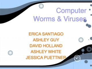 Computer  Worms & Viruses