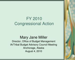FY 2010 Congressional Action