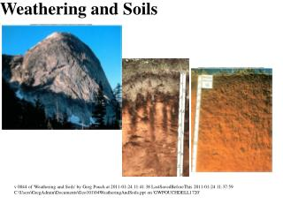 Weathering and Soils