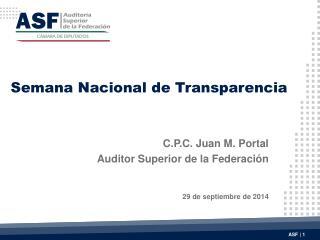 Semana Nacional de Transparencia