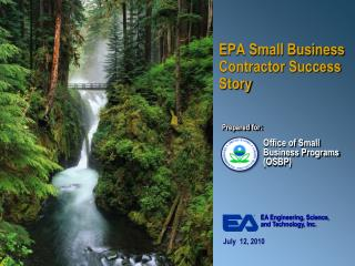 EPA Small Business Contractor Success Story