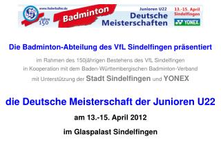 In Sindelfingen treffen sich die besten deutschen Kaderathleten und qualifizierte Spieler aus
