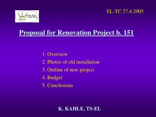 Proposal for Renovation Project b. 151