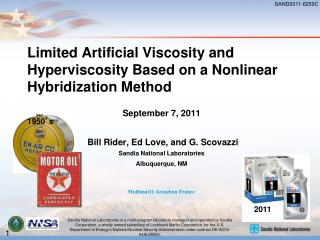 Limited Artificial Viscosity and Hyperviscosity Based on a Nonlinear Hybridization Method