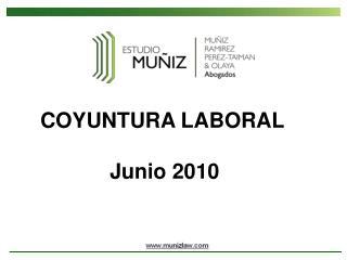 COYUNTURA LABORAL Junio 2010