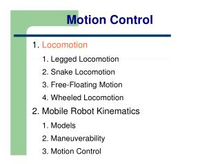 Motion Control