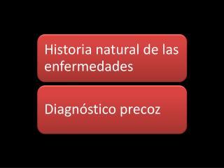 Beneficios de conocer  la historia natural y el curso  clínico