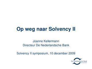 Op weg naar Solvency II