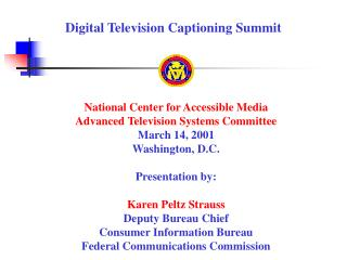 Digital Television Captioning Summit