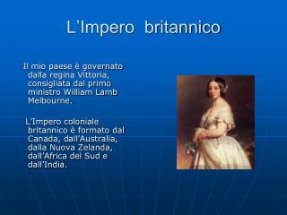 L'Impero  britannico