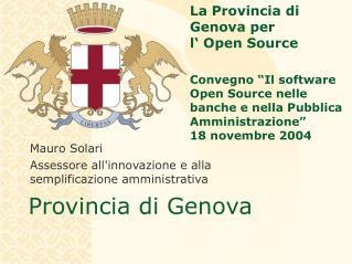 Mauro Solari Assessore all'innovazione e alla semplificazione amministrativa