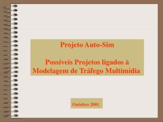 Projeto Auto-Sim Possíveis Projetos ligados à Modelagem de Tráfego Multimídia