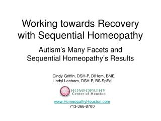 Working towards Recovery with Sequential Homeopathy