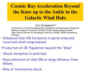 Cosmic Ray Acceleration Beyond the Knee up to the Ankle in the Galactic Wind Halo