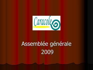 Assembl�e g�n�rale  2009
