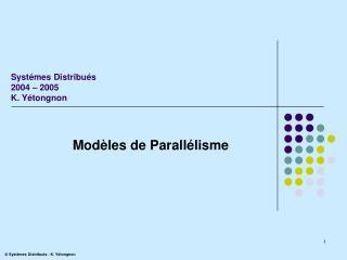 Modèles de Parallélisme
