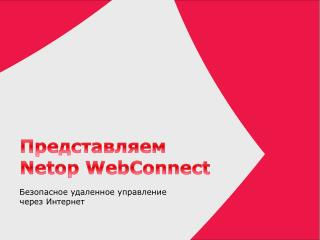 Представляем Netop WebConnect