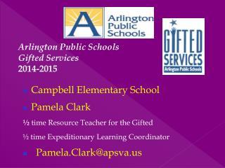 Arlington Public Schools  Gifted Services 2014-2015
