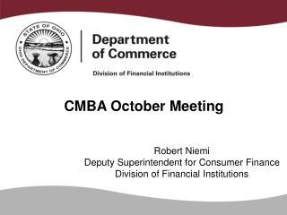 CMBA October Meeting