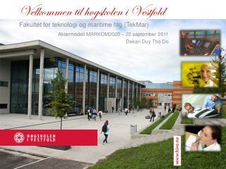 Velkommen til høgskolen i Vestfold