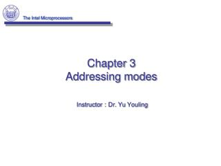 Chapter 3 Addressing modes