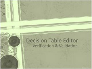 Decision Table Editor