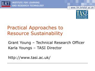 Practical Approaches to Resource Sustainability