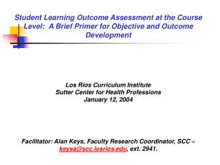 Student learning outcomes can be categorized in terms of…