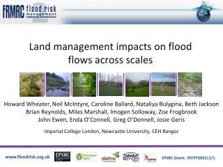Land management impacts on flood flows across scales