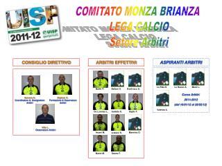 COMITATO MONZA BRIANZA  LEGA CALCIO Setore Arbitri