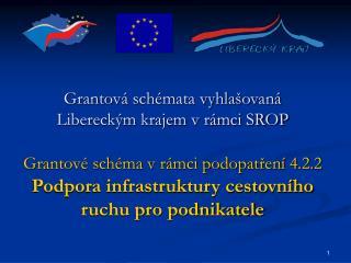 Grantová schémata vyhlašovaná Libereckým krajem v rámci SROP