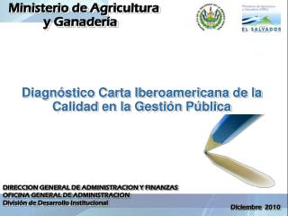 Diagnóstico Carta Iberoamericana de la Calidad en la Gestión Pública