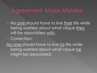 AgreementMajor Mistake
