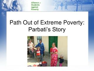 Path Out of Extreme Poverty: Parbati's Story