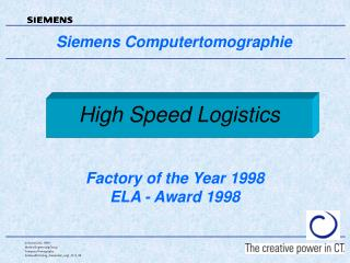 High Speed Logistics