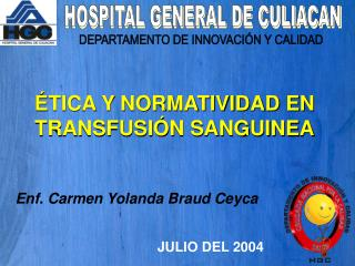 HOSPITAL GENERAL DE CULIACAN