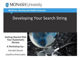 Developing Your Search String