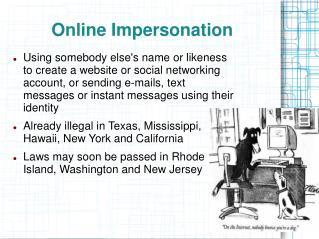 Online Impersonation