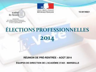ÉLECTIONS PROFESSIONNELLES 2014
