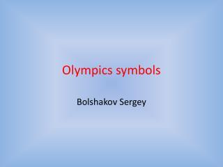 Olympics symbols
