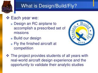 What is Design/Build/Fly?