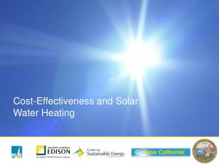 Cost-Effectiveness and Solar Water Heating