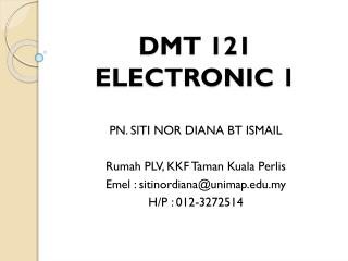 DMT 121 ELECTRONIC 1
